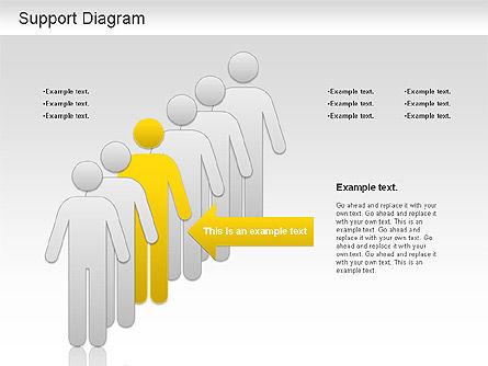 Support Diagram, Slide 4, 01208, Business Models — PoweredTemplate.com
