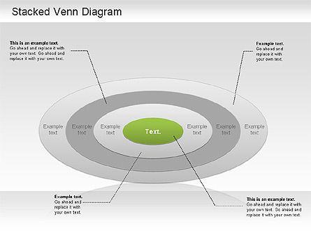 Stacked Venn Diagram, Slide 2, 01209, Business Models — PoweredTemplate.com