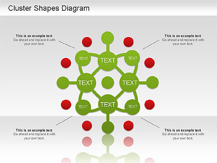 Cluster Shapes Diagram, 01210, Matrix Charts — PoweredTemplate.com