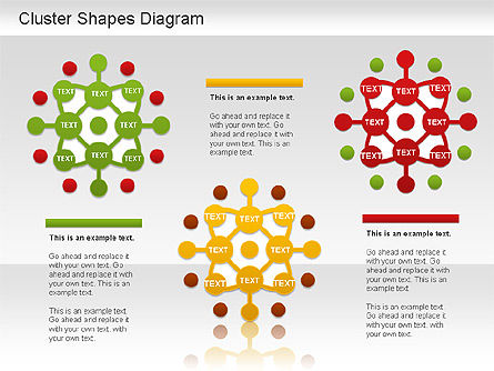 Cluster Shapes Diagram, Slide 3, 01210, Matrix Charts — PoweredTemplate.com