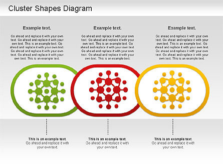 Cluster Shapes Diagram, Slide 4, 01210, Matrix Charts — PoweredTemplate.com