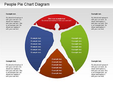People Pie Chart, Slide 12, 01211, Pie Charts — PoweredTemplate.com