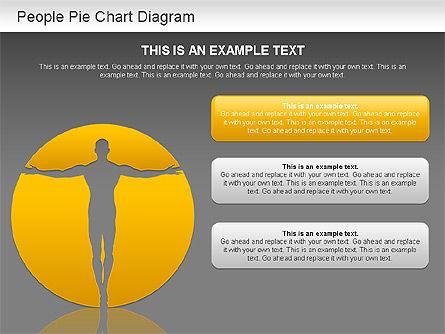 People Pie Chart, Slide 13, 01211, Pie Charts — PoweredTemplate.com