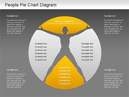 People Pie Chart, Slide 16, 01211, Pie Charts — PoweredTemplate.com