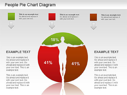 People Pie Chart, Slide 4, 01211, Pie Charts — PoweredTemplate.com