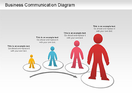 Business Communication Diagram, 01212, Process Diagrams — PoweredTemplate.com