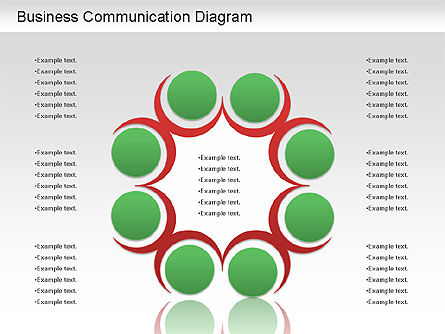 Business Communication Diagram, Slide 2, 01212, Process Diagrams — PoweredTemplate.com