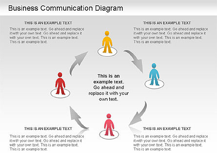 Business Communication Diagram, Slide 3, 01212, Process Diagrams — PoweredTemplate.com