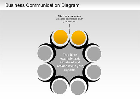 Business Communication Diagram, Slide 4, 01212, Process Diagrams — PoweredTemplate.com