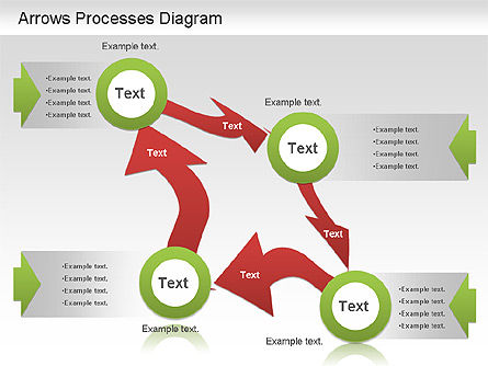 Arrow Process Diagram, 01219, Process Diagrams — PoweredTemplate.com
