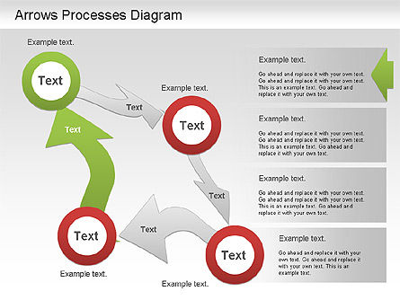 Arrow Process Diagram, Slide 2, 01219, Process Diagrams — PoweredTemplate.com