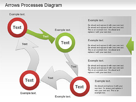 Arrow Process Diagram, Slide 3, 01219, Process Diagrams — PoweredTemplate.com