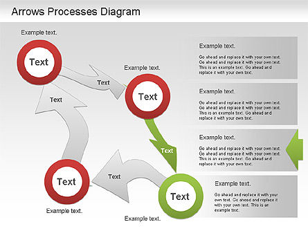 Arrow Process Diagram, Slide 4, 01219, Process Diagrams — PoweredTemplate.com