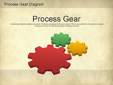 Working Gears Diagram, 01220, Shapes — PoweredTemplate.com