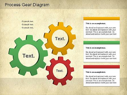 Working Gears Diagram, Slide 10, 01220, Shapes — PoweredTemplate.com