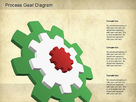 Working Gears Diagram, Slide 11, 01220, Shapes — PoweredTemplate.com