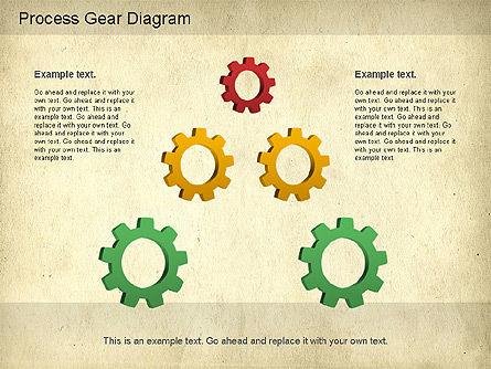 Working Gears Diagram, Slide 12, 01220, Shapes — PoweredTemplate.com