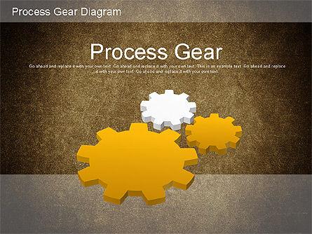 Working Gears Diagram, Slide 13, 01220, Shapes — PoweredTemplate.com