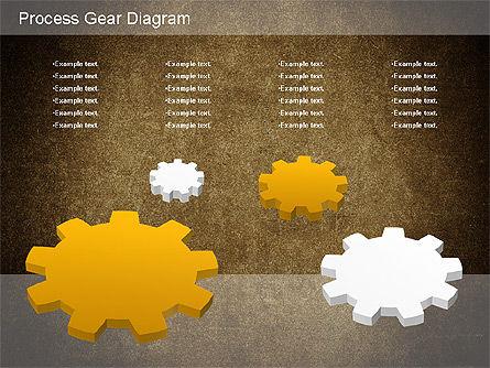 Working Gears Diagram, Slide 14, 01220, Shapes — PoweredTemplate.com