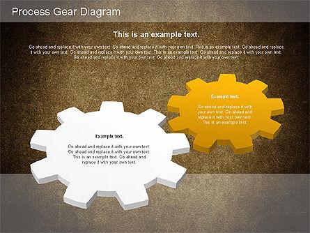 Working Gears Diagram, Slide 15, 01220, Shapes — PoweredTemplate.com