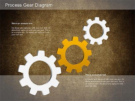Working Gears Diagram, Slide 16, 01220, Shapes — PoweredTemplate.com