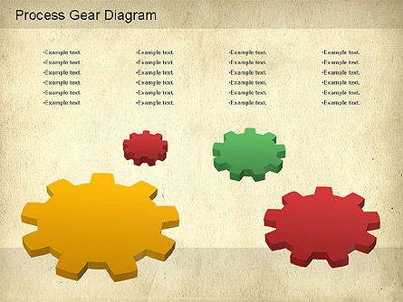 Working Gears Diagram, Slide 2, 01220, Shapes — PoweredTemplate.com