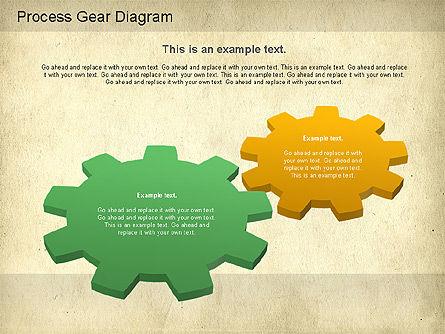 Working Gears Diagram, Slide 3, 01220, Shapes — PoweredTemplate.com