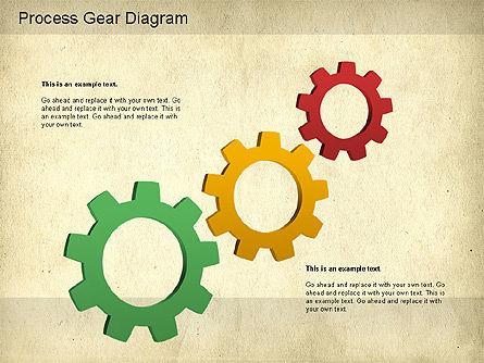 Working Gears Diagram, Slide 4, 01220, Shapes — PoweredTemplate.com