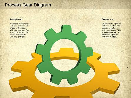 Working Gears Diagram, Slide 5, 01220, Shapes — PoweredTemplate.com