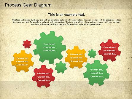 Working Gears Diagram, Slide 6, 01220, Shapes — PoweredTemplate.com