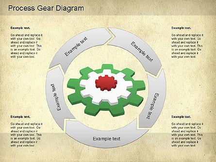 Working Gears Diagram, Slide 7, 01220, Shapes — PoweredTemplate.com