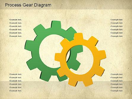 Working Gears Diagram, Slide 8, 01220, Shapes — PoweredTemplate.com