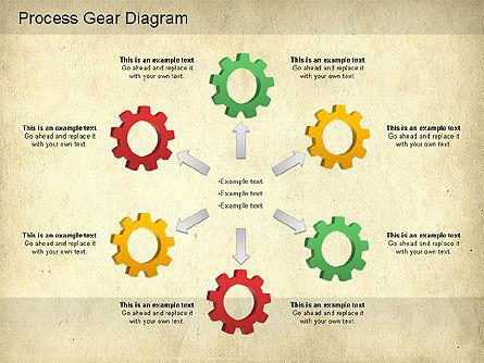 Working Gears Diagram, Slide 9, 01220, Shapes — PoweredTemplate.com