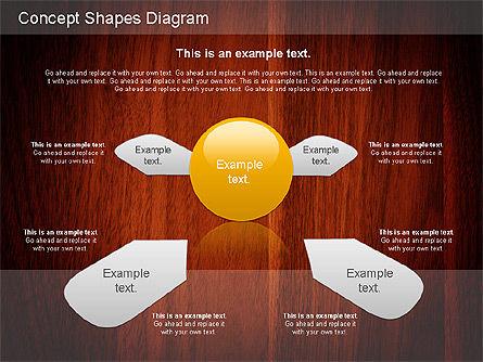 Concept Shapes Diagram, Slide 10, 01221, Shapes — PoweredTemplate.com