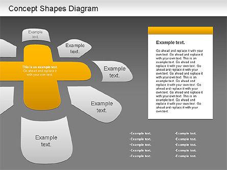 Concept Shapes Diagram, Slide 13, 01221, Shapes — PoweredTemplate.com