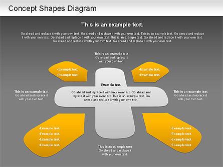 Concept Shapes Diagram, Slide 14, 01221, Shapes — PoweredTemplate.com