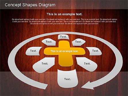 Concept Shapes Diagram, Slide 8, 01221, Shapes — PoweredTemplate.com