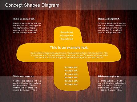 Concept Shapes Diagram, Slide 9, 01221, Shapes — PoweredTemplate.com