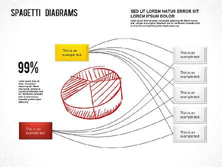 Spaghetti Chart, 01222, Process Diagrams — PoweredTemplate.com