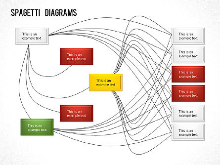 Spaghetti Chart, Slide 3, 01222, Process Diagrams — PoweredTemplate.com