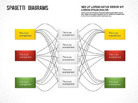 free spaghetti diagram template spaghetti chart for powerpoint presentations download now