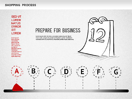Process Diagrams: Shopping Process Diagram #01223