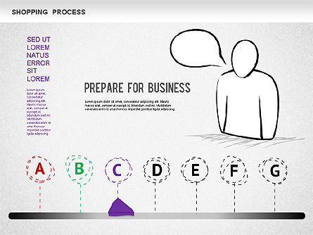 Shopping Process Diagram, Slide 3, 01223, Process Diagrams — PoweredTemplate.com