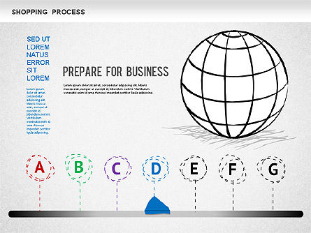 Shopping Process Diagram, Slide 4, 01223, Process Diagrams — PoweredTemplate.com