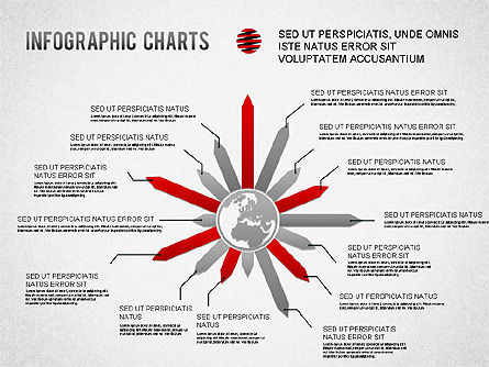 Infographics Charts, 01225, Presentation Templates — PoweredTemplate.com