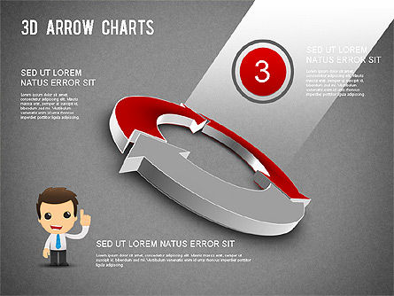 3D Donut Arrow Chart, Slide 11, 01226, Process Diagrams — PoweredTemplate.com