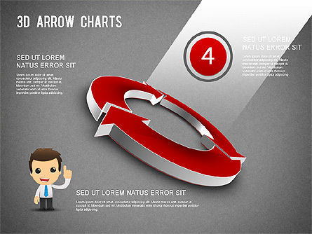3D Donut Arrow Chart, Slide 12, 01226, Process Diagrams — PoweredTemplate.com