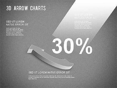 3D Donut Arrow Chart, Slide 13, 01226, Process Diagrams — PoweredTemplate.com