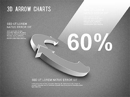 3D Donut Arrow Chart, Slide 14, 01226, Process Diagrams — PoweredTemplate.com
