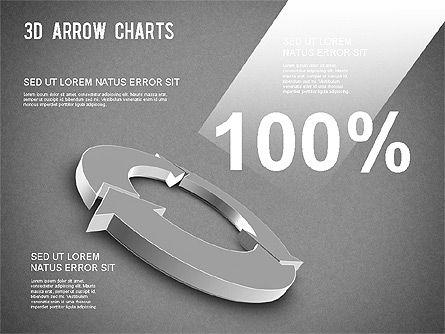 3D Donut Arrow Chart, Slide 15, 01226, Process Diagrams — PoweredTemplate.com